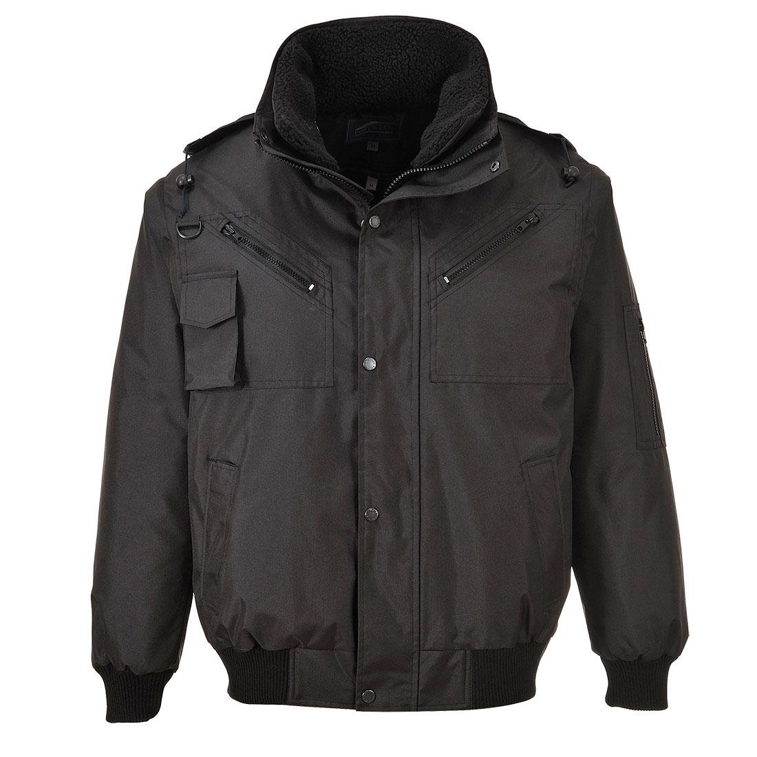 cae3673964 Portwest 3 az 1-ben bomber kabát fekete